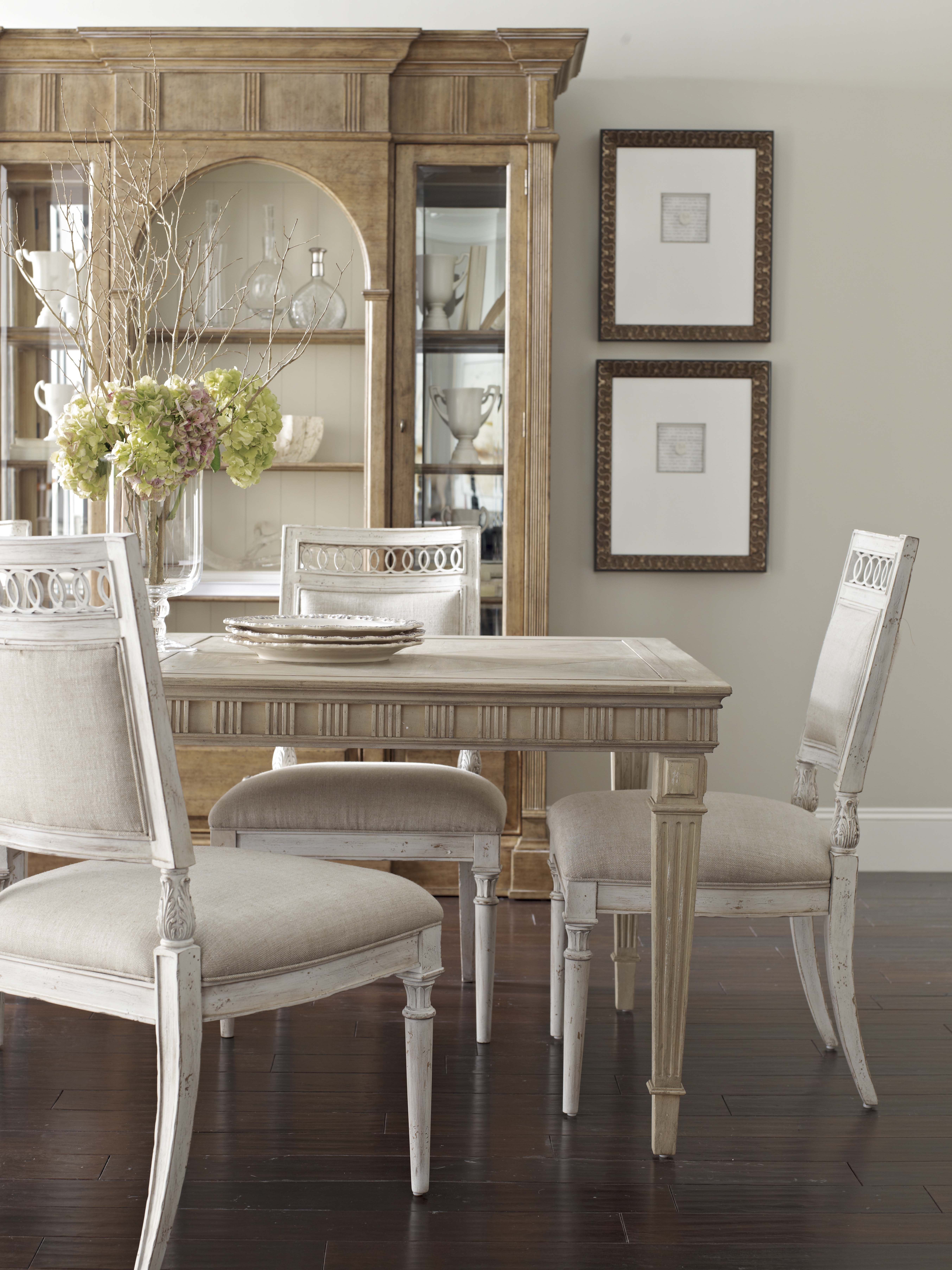 Collection One Jefferson Leg Dining Table Shown With The Jefferson