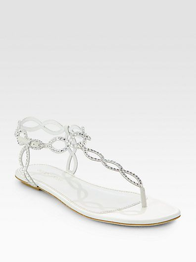 d7abab73f Sergio Rossi Bridal Crystal-Coated Suede Thong Sandals on shopstyle ...