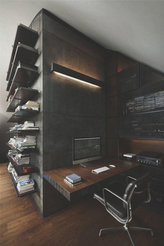 luxury inviting office design modern home. Dark Modern Office. Luxury Inviting Office Design Home D