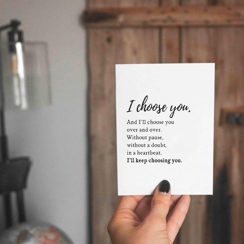 Wedding Card for Husband Wedding Day Card Valentine's | Etsy
