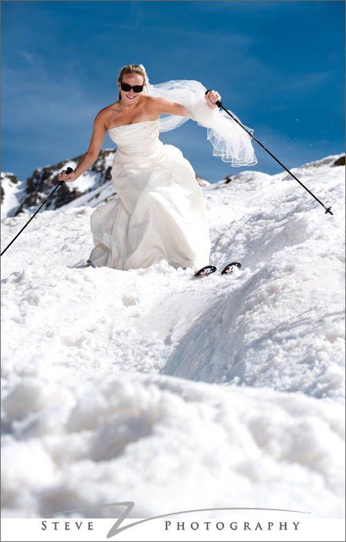 Skiing Wedding Dress
