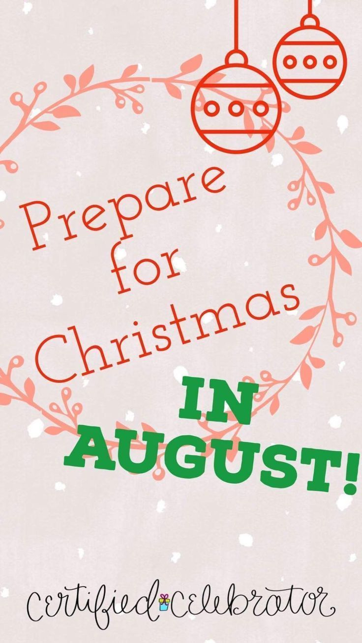 Christmas In August Poster.Prepare For Christmas In August Certified Celebrator