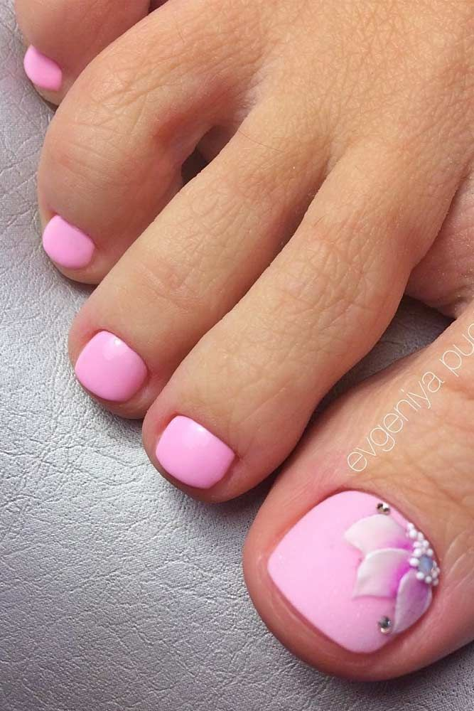 Nail Designs For Truly Fashionable Chicks Who Follow The Trends Pink Toe Nails Summer Toe Nails Feet Nail Design