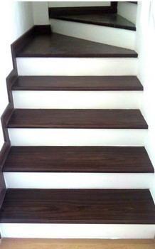 Acabado escalera buscar con google escaleras for Escaleras de madera para pintor precios