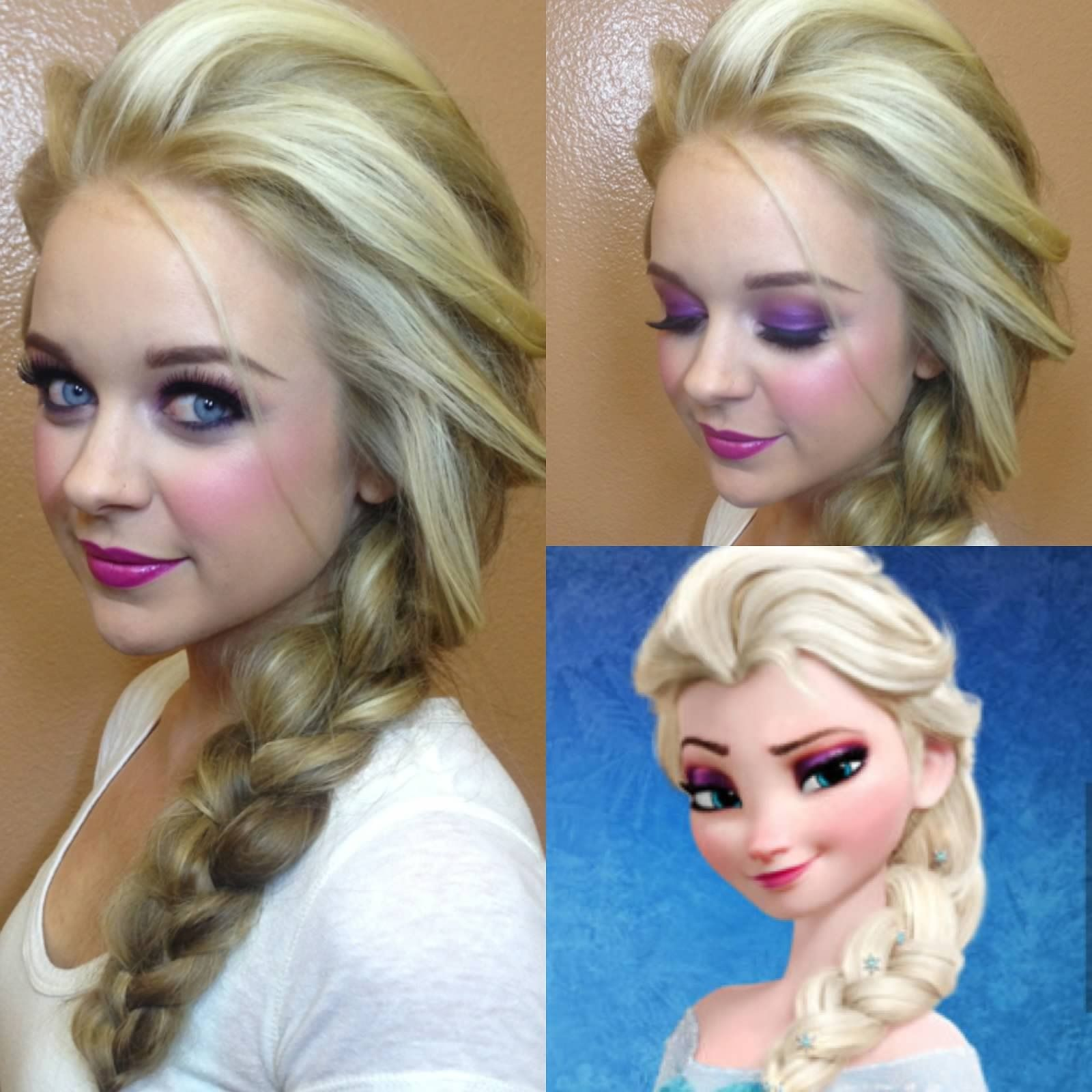 Elsa Frozen Hair By Allie Makeup By Chelsea Pagnini Frozen Elsa Disney Elsa Hair Frozen Hair Princess Hairstyles