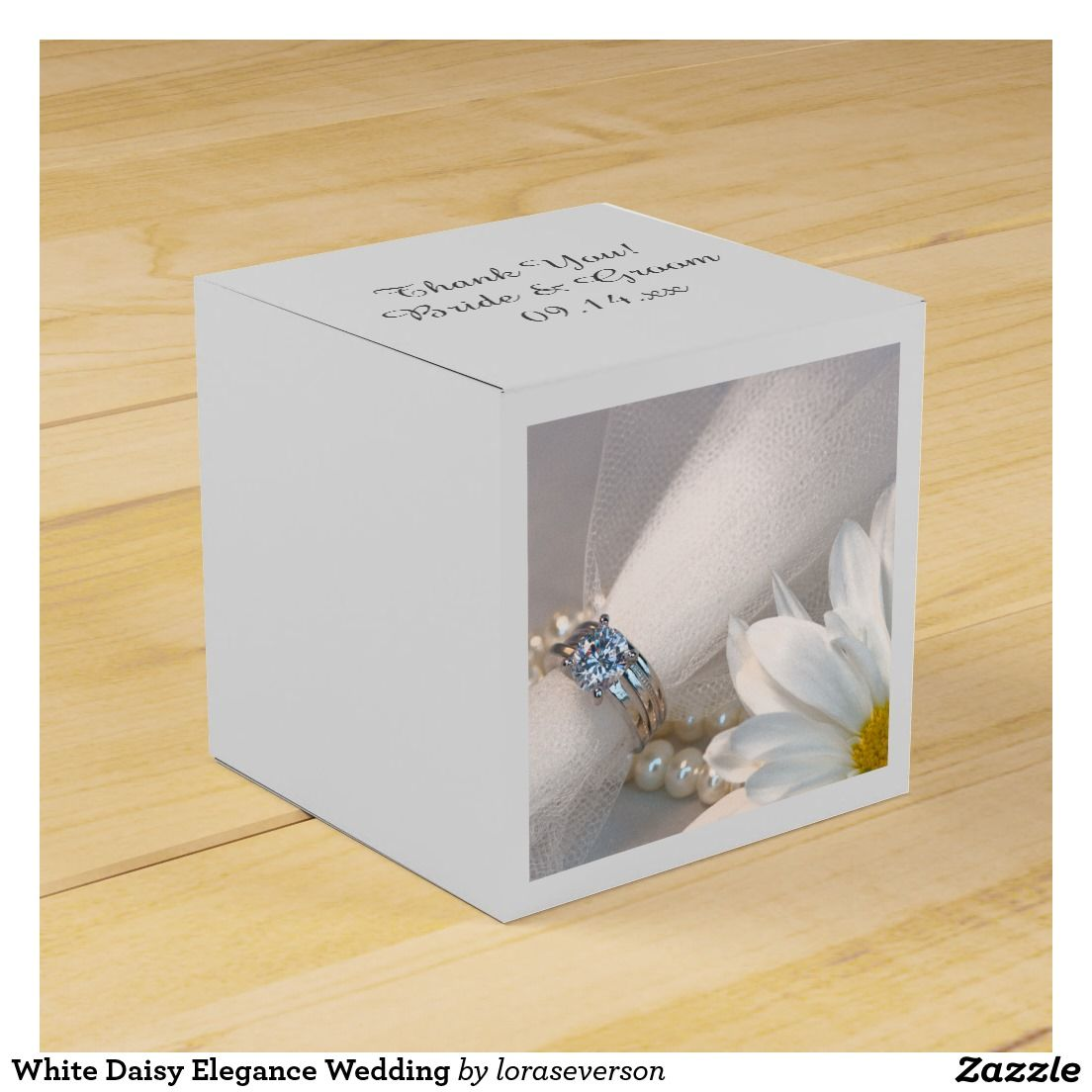 White Daisy Elegance Wedding Favor Box   Favours, Wedding and Wedding