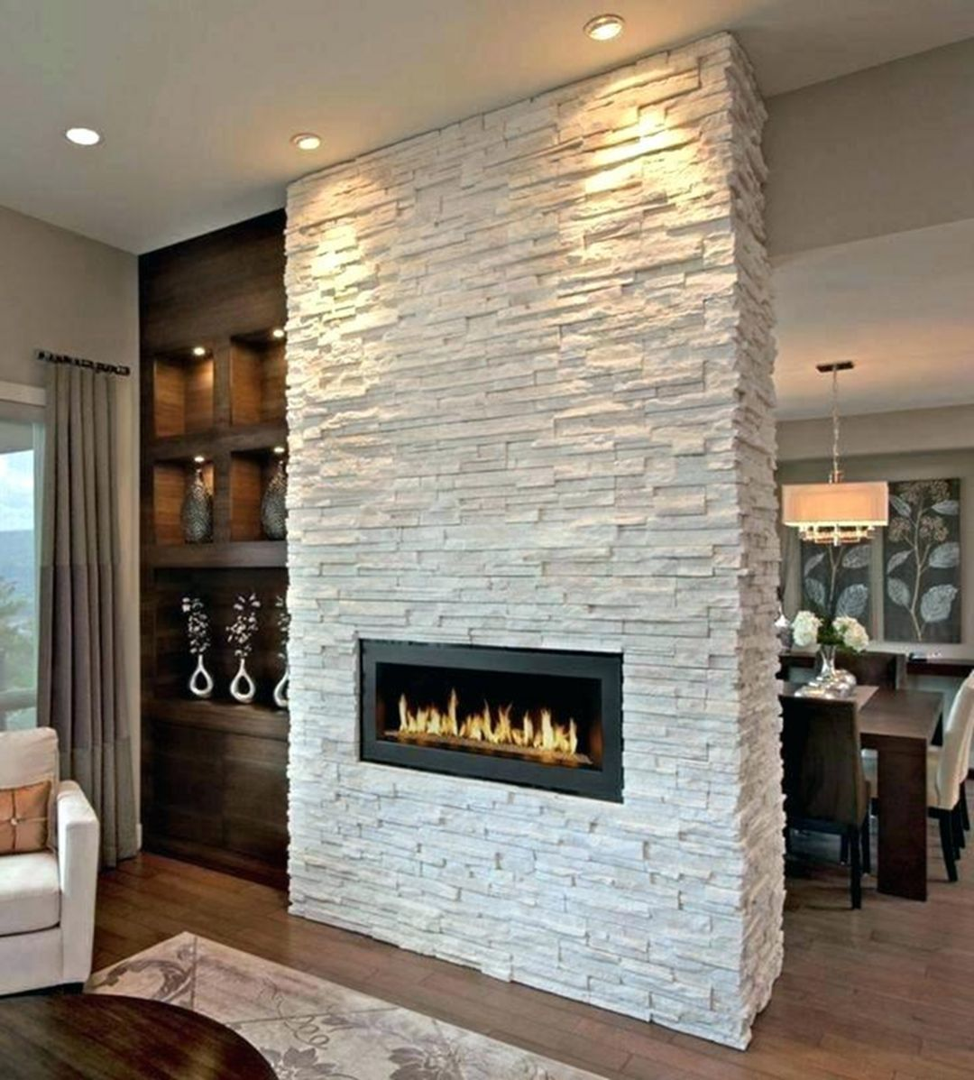 15 Awesome Wall Stone Ideas For Best Home Interior Design