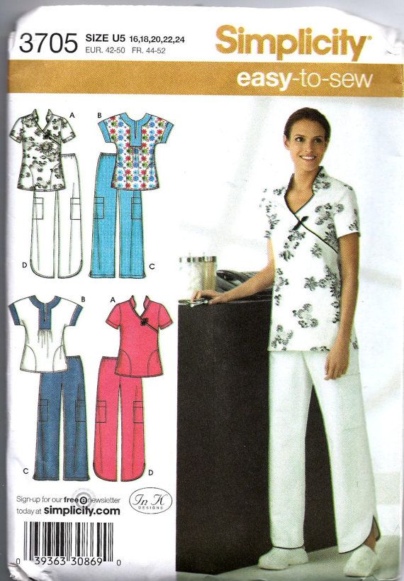 SALE 40 Off Simplicity 40 Scrubs Pattern By QueensKnightSeven Interesting Scrub Top Patterns