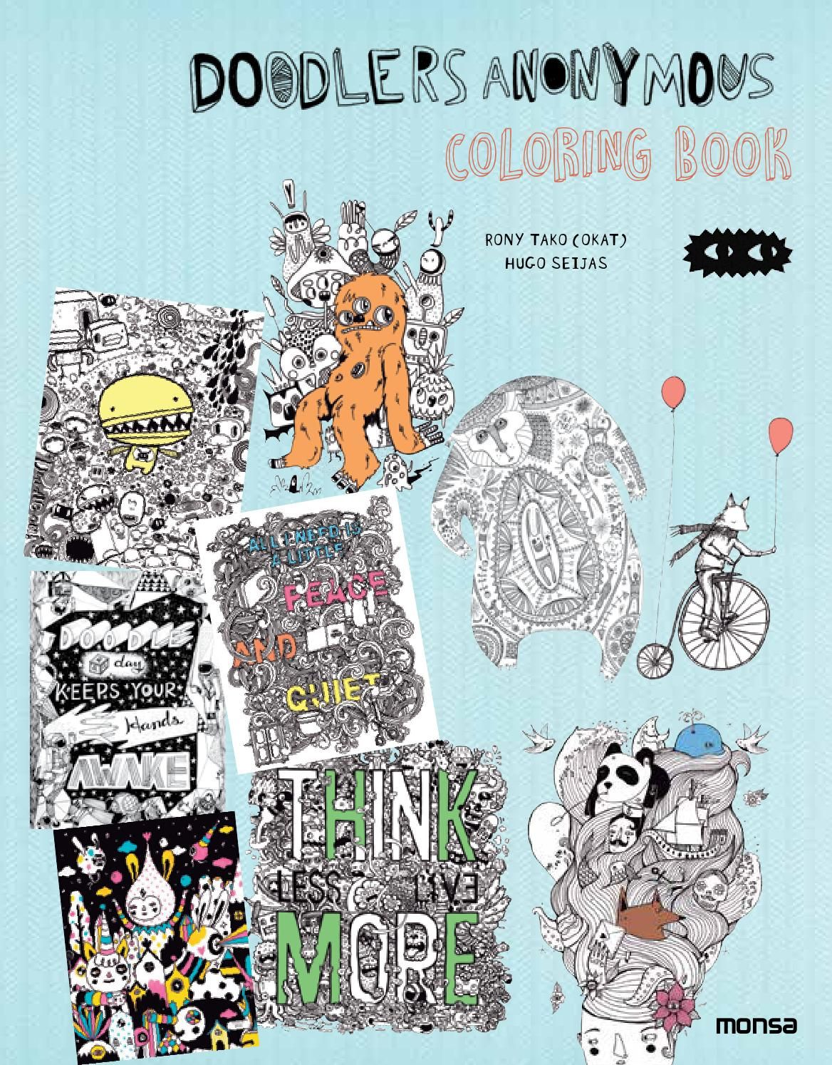 DOODLERS ANONYMOUS COLORING BOOK ISBN 978 84 16500 20 8