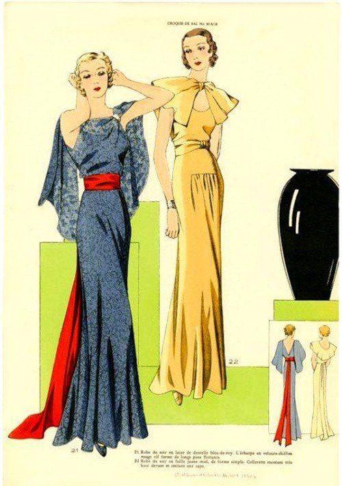 Pin von Наталья Тесля auf Мода 1930-х/1930s Fashion | Pinterest