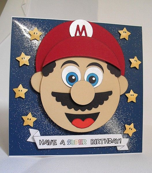 Splitcoaststampers Foogallery Mario Birthday Card Cardskids