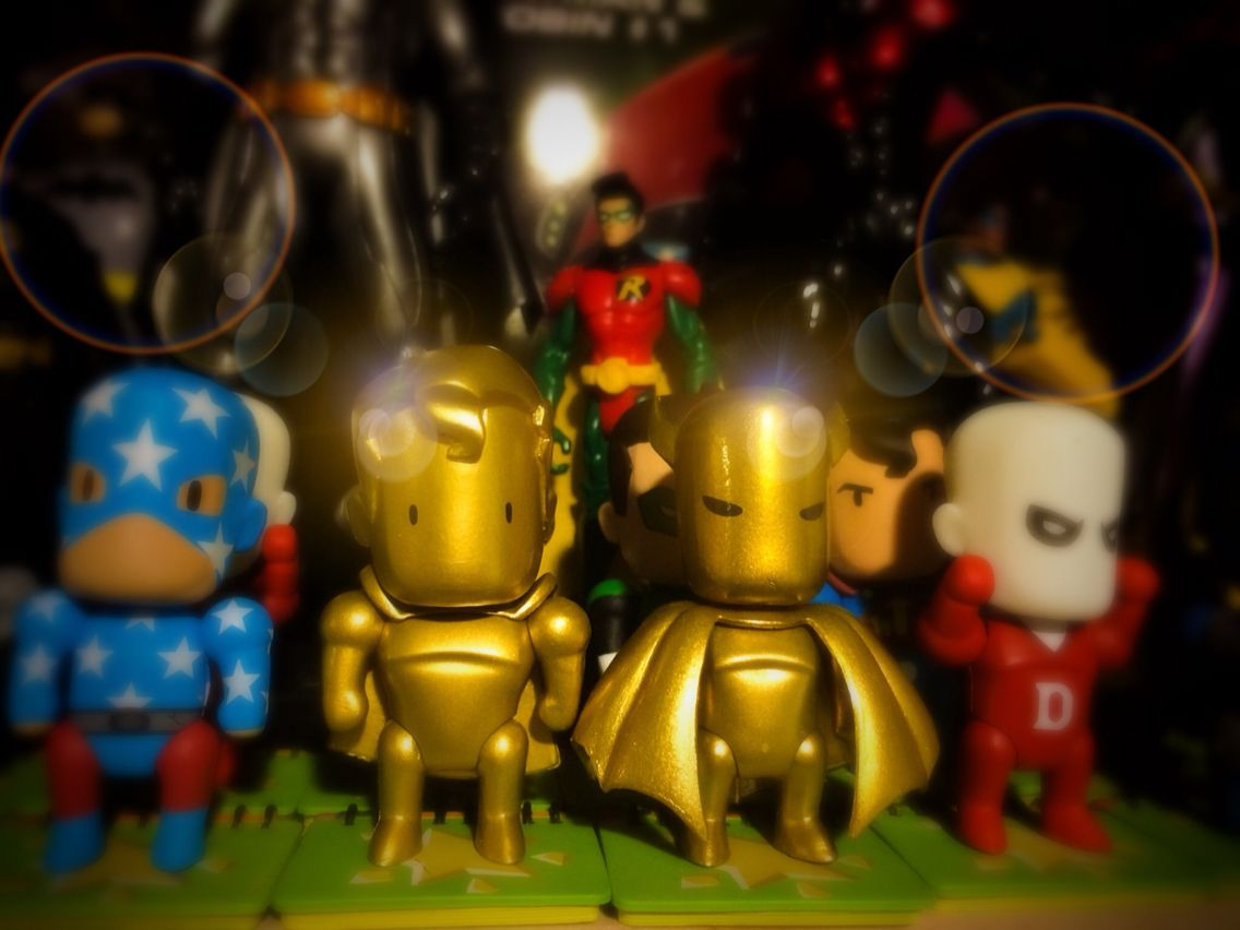 My Dc scribblenauts gold batman and superman!