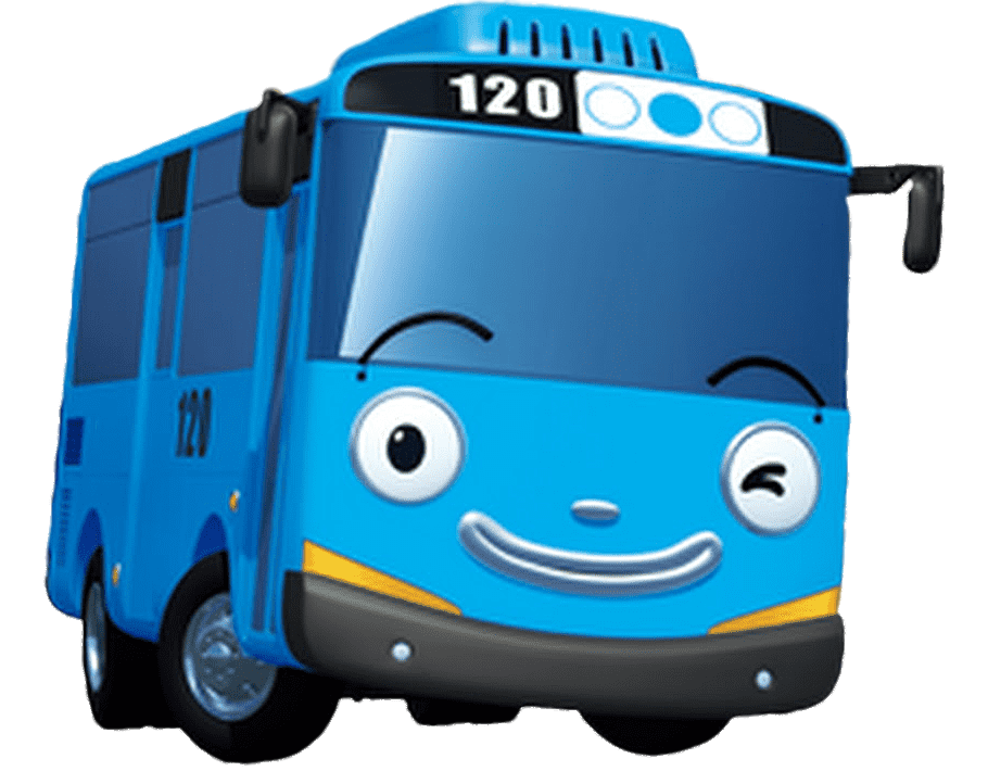 Tayo The Little Bus Winking Tayo The Little Bus Little Bus Hawaiian Party Decorations