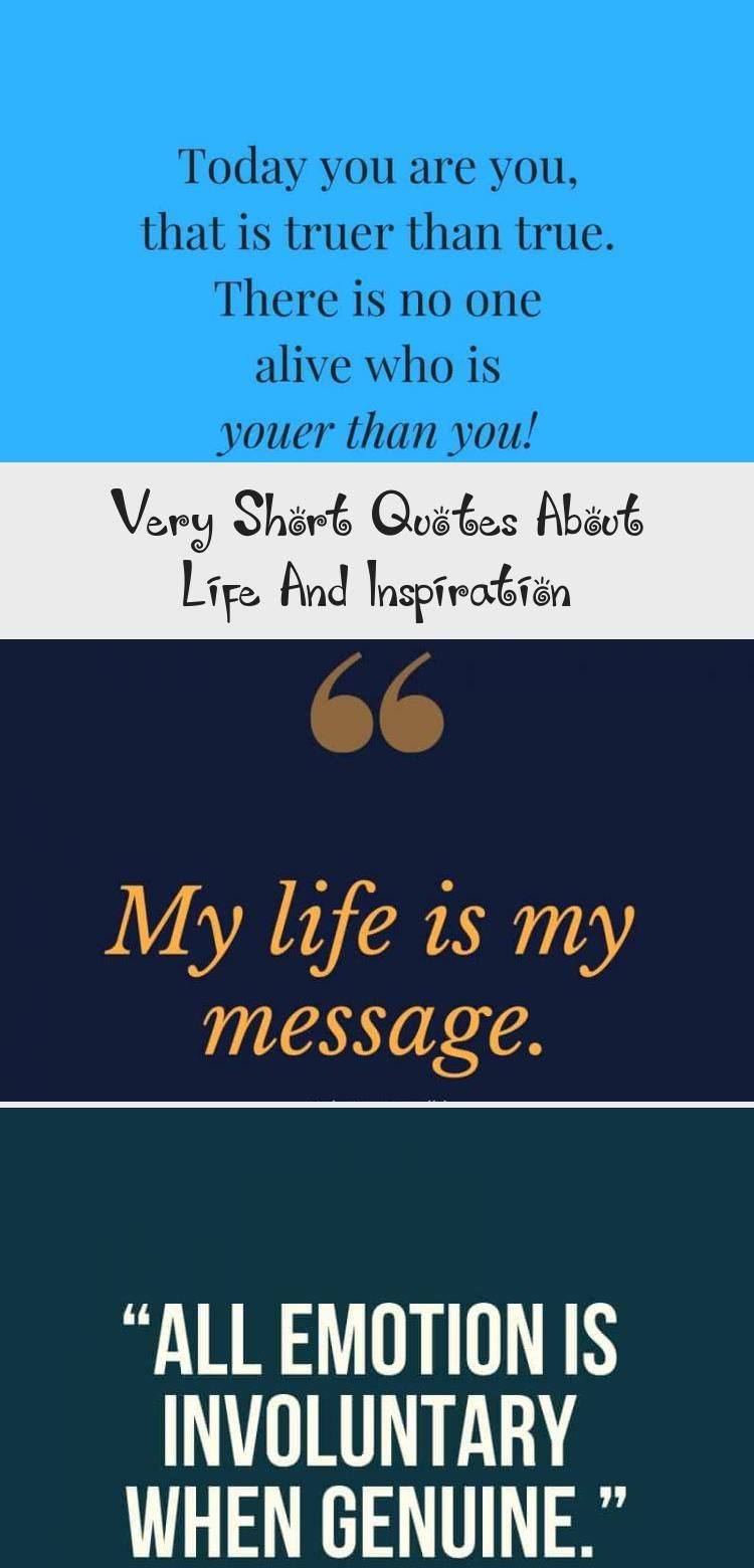 Very Short Quotes about Life, Hope and Inspiration # ...