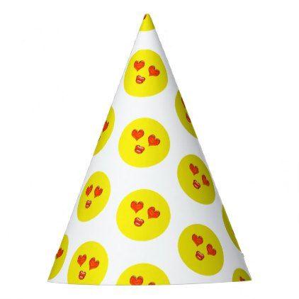 Love Emoji Birthday Party Party Hat Zazzle Com Emoji Birthday Emoji Birthday Party Emoji Birthday Invitations