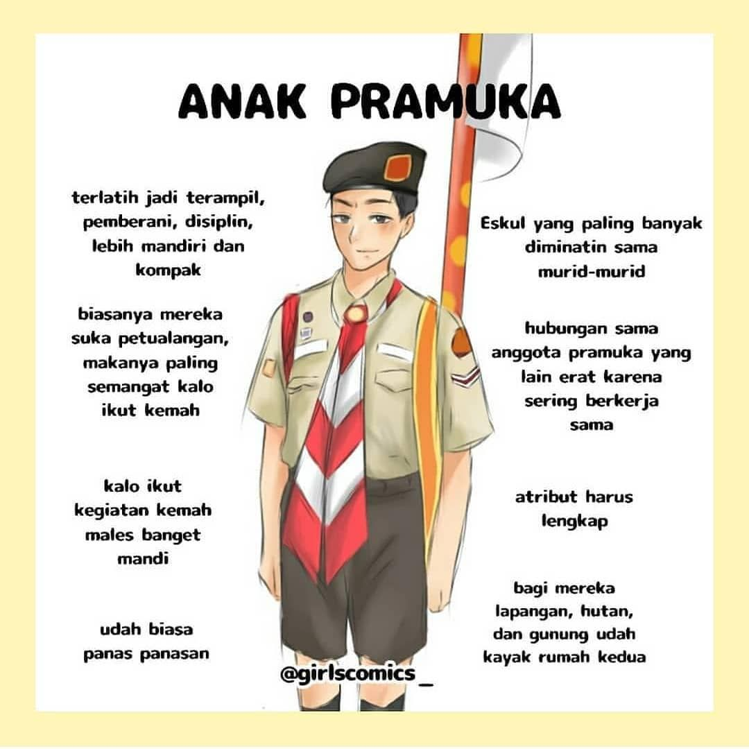 Atribut Pramuka Putri