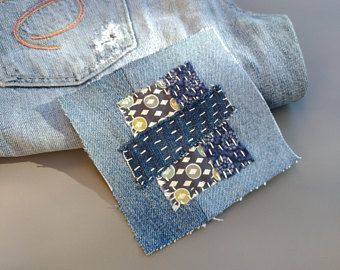 Denim and Fabric Bags Clutch Purses and Jeans by B