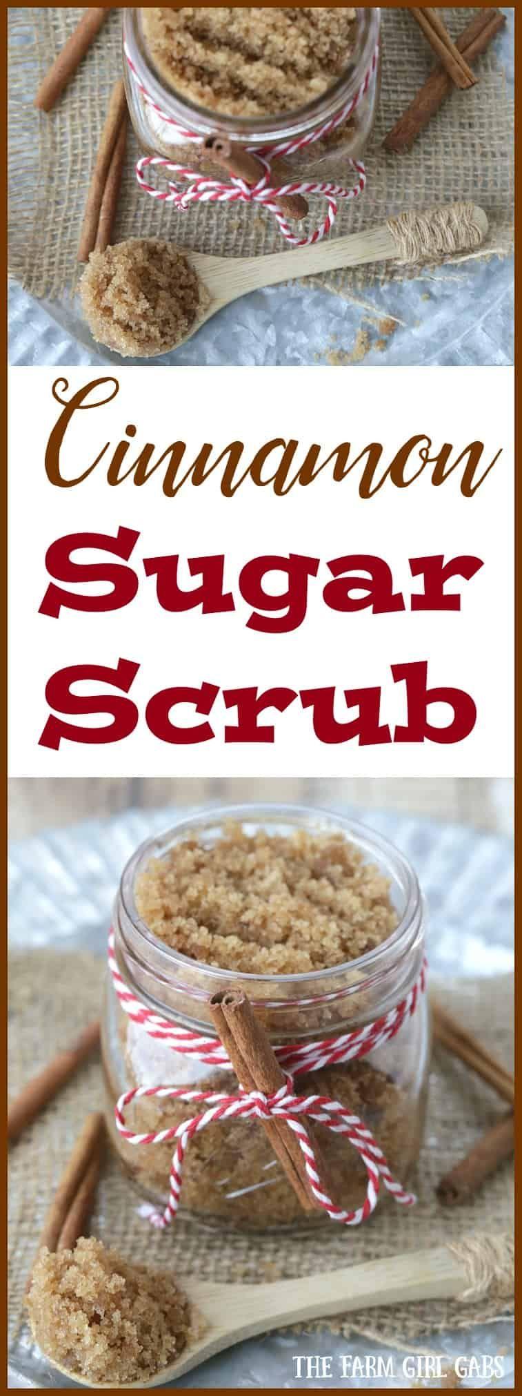 DIY Cinnamon Sugar Scrub Sugar scrub homemade, Diy sugar