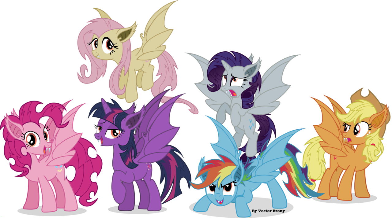 Image tirek throws twilight towards the mountain s4e26 png my - That S The Mane Six All Turned Into Bat Ponies The Watermark Is There To Stop Stealing Of My Work If You Wan T A Plain Version Of Any O Bat Mane Six