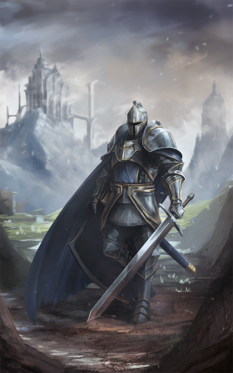 fantasy knight commission by babaganoosh99 dampd character