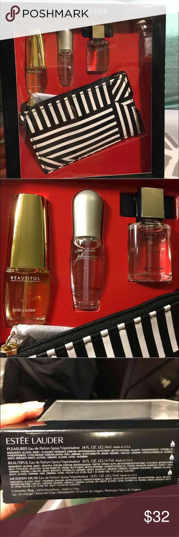 Estee Lauder Perfume Gift Set Brand New In Box Gift Set Retail Value Over 40 Includes A Cosmetic Bag And Perfume Gift Sets Estee Lauder Perfume Modern Muse