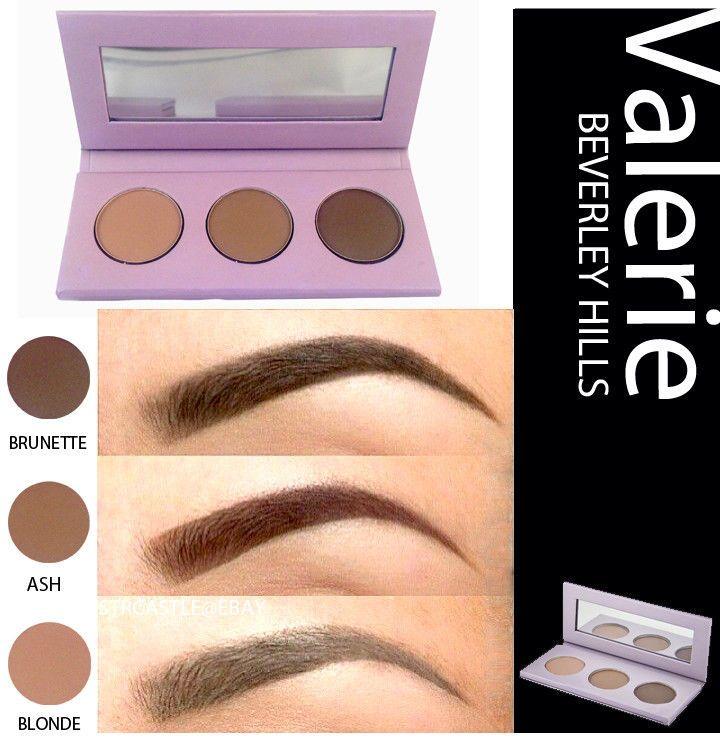 Valerie Beverly Hills Three Pallet Eye Brow Kit Blonde Brunette Ash 35 Brow Kit Perfect Eyebrows Eyebrow Shaping