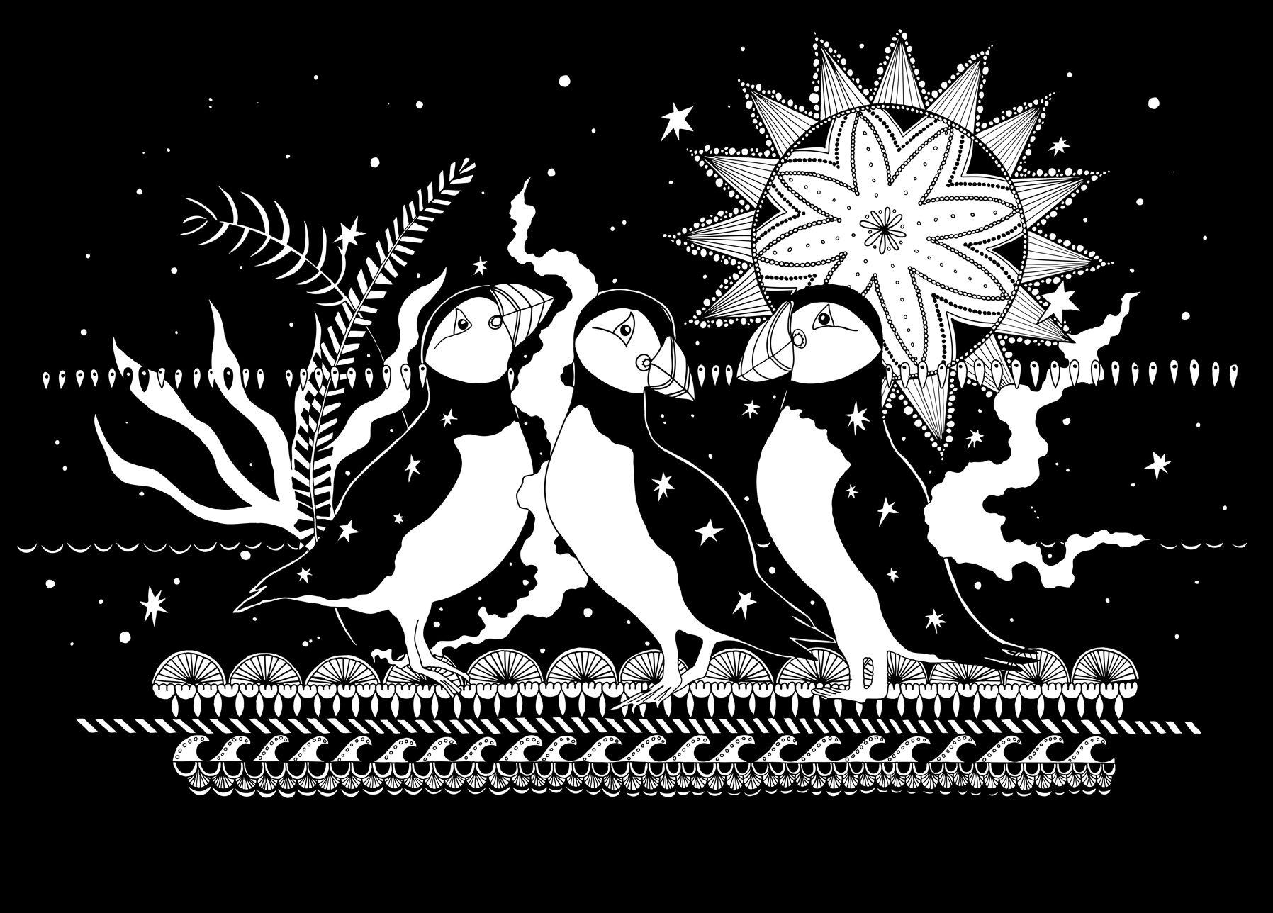 Silk screen print by becky dinnage ludicrous prints