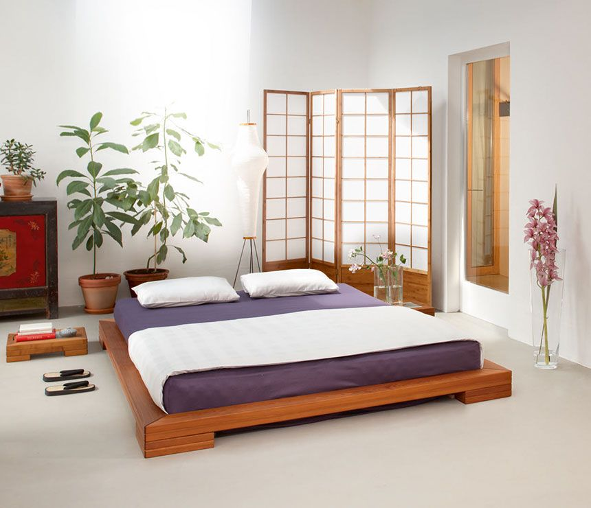 oak headboard double beds company japanese style natural kyoto product sale with bed