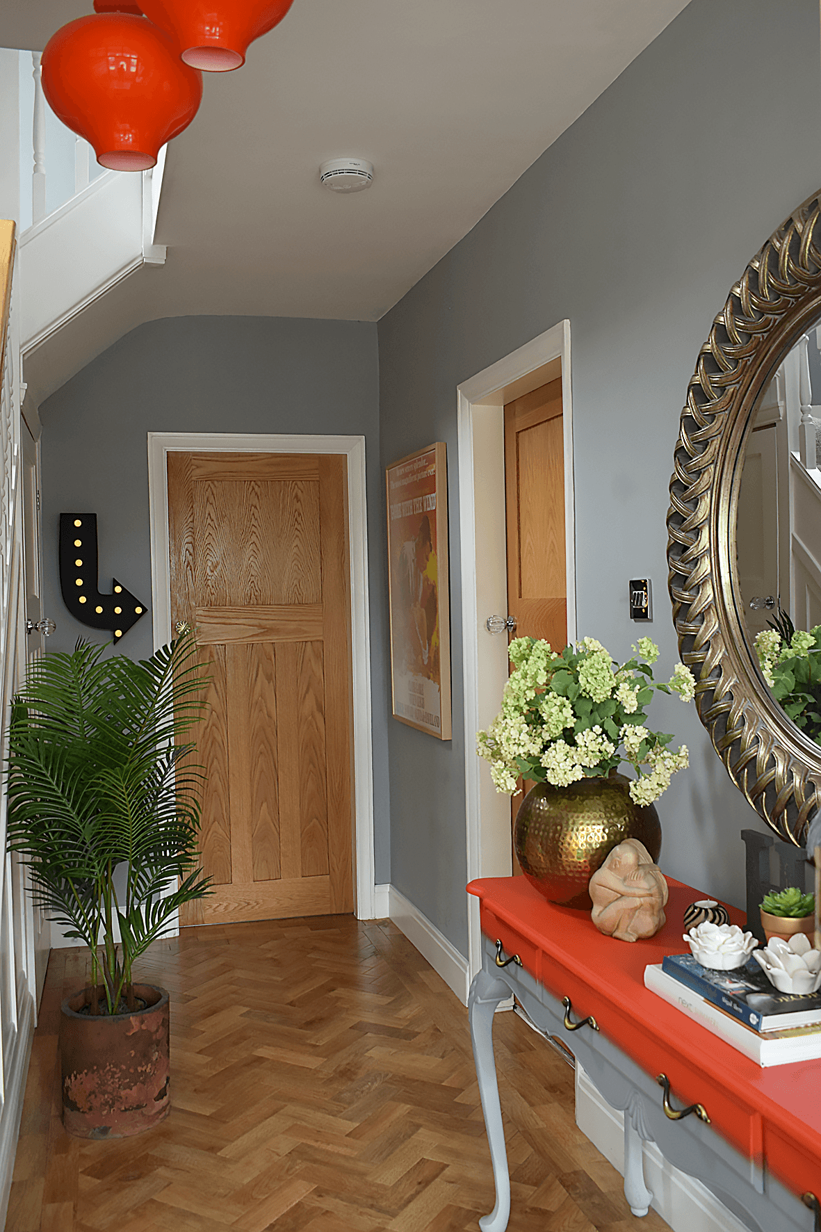 Hallway renovation before and after projects interior design light fixtures mirror foyer entry ways home entrance decorating ideas also rh pinterest