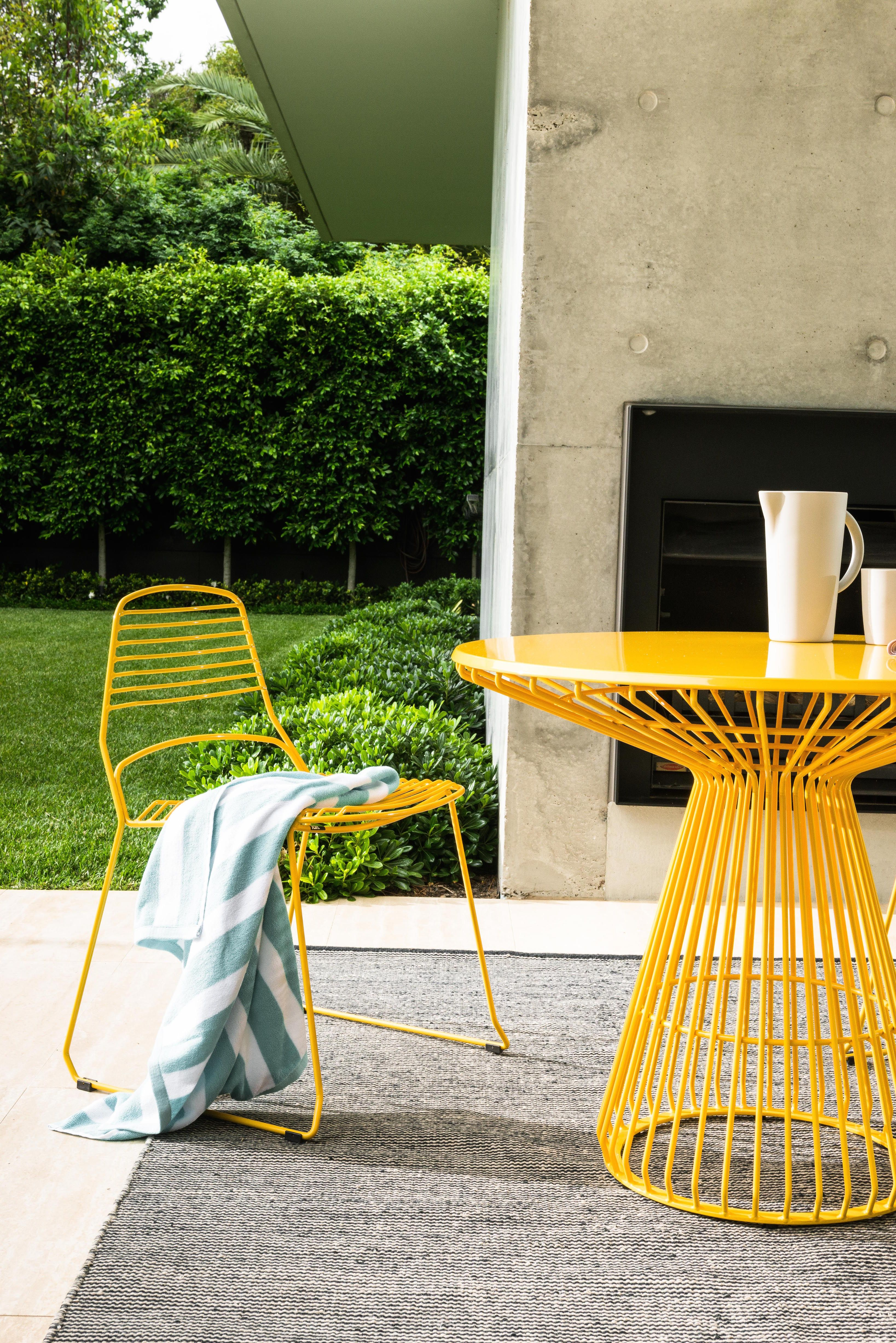 Yellow Outdoor Setting