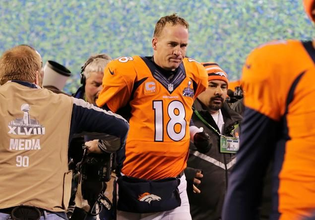 Image result for peyton manning super bowl seahawks