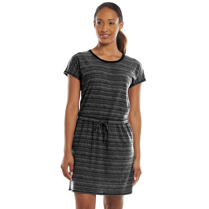 Women's Tek Gear® DRY TEK Shirred Scoopneck T-Shirt Dress, Size: