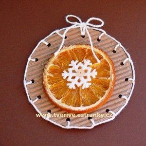 Stránky pro tvořivé - malé i velké - Vánoce - Voňavá ozdobička v přírodním stylu