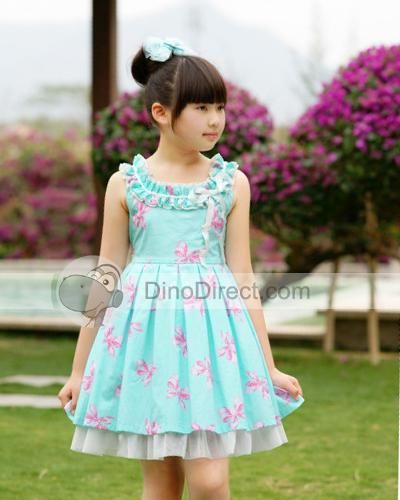 Girl Outfits on Wholesale Sleeveless Floral Little Easter Girls ...