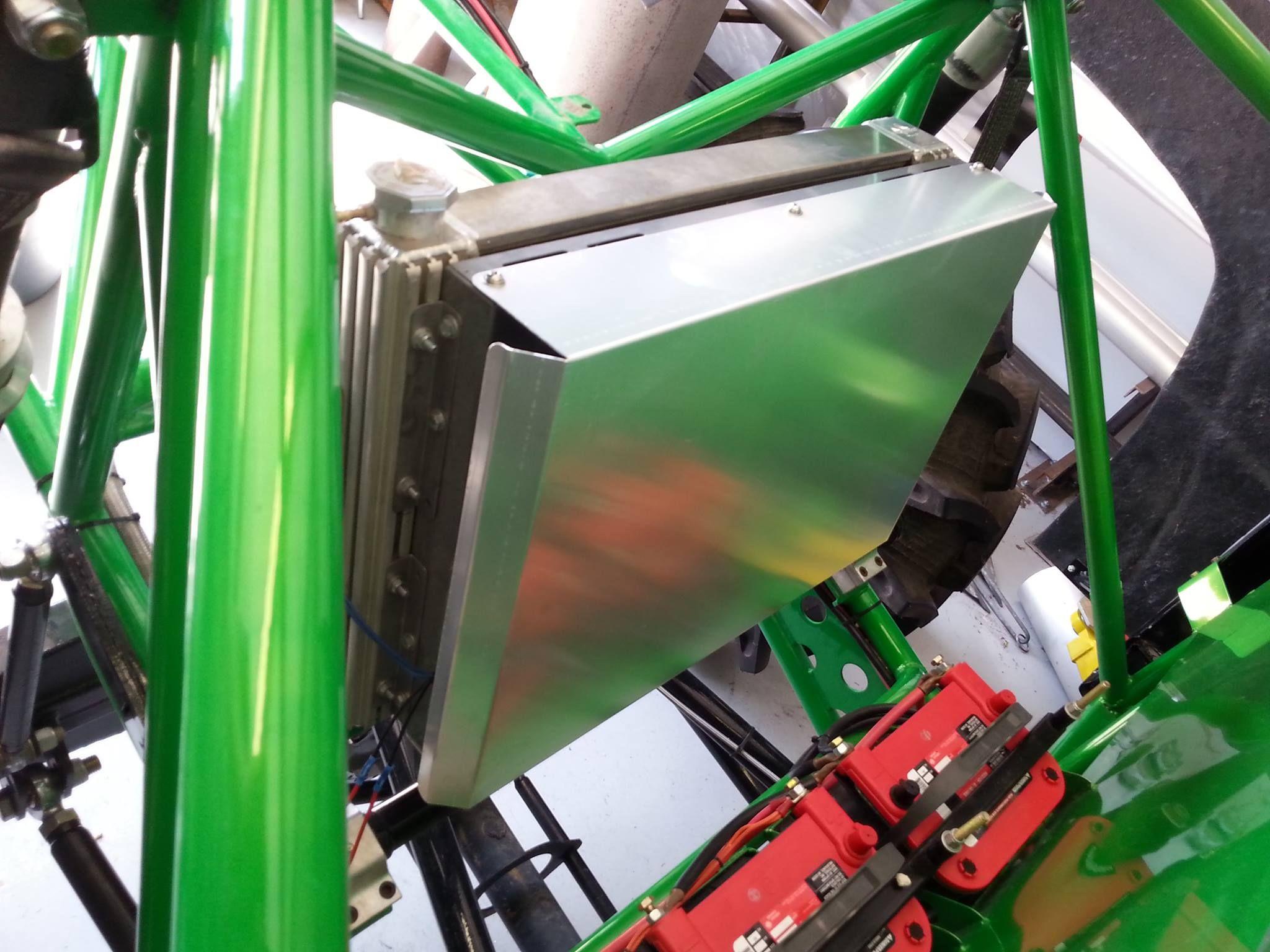 Radiator Electric Fan Cover On Mega Truck Race Truck Electric