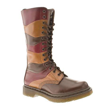 womens dr martens nina patchwork 14 eye bt boots hippy