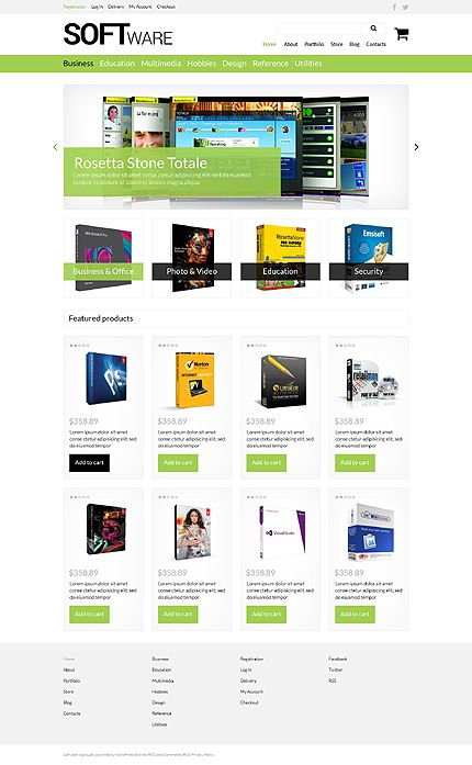 Software Store WooCommerce Theme | Great Premium Wordpress Themes ...
