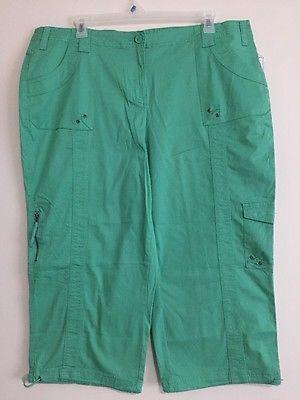 c45934e890d4 Style&co. Plus Size Cargo Capri Pants Mint Glaze Mid Rise Pants 20W ...