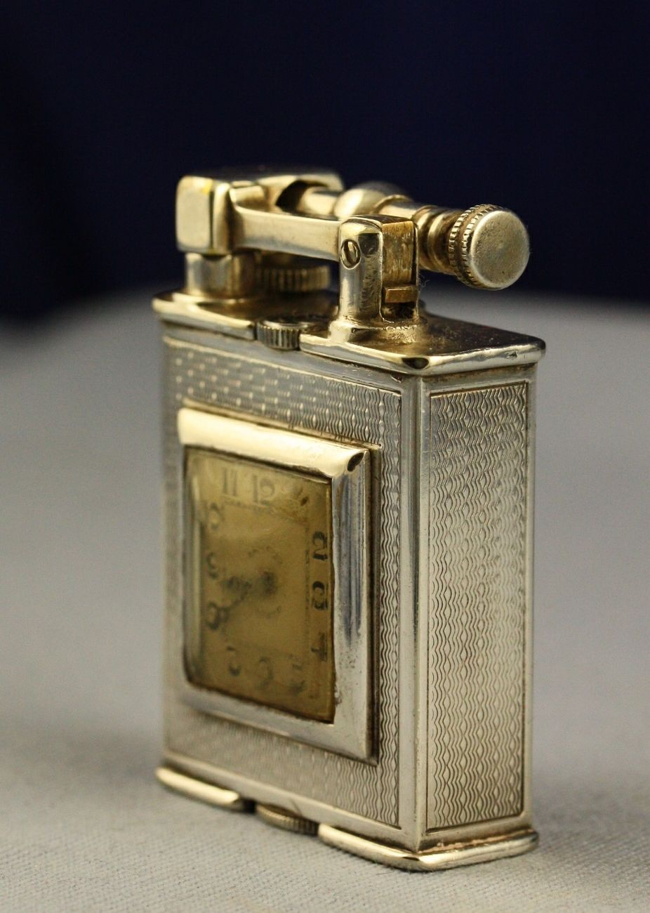Vintage 1930s Silver Alfred Dunhill Patent 143752 Parker