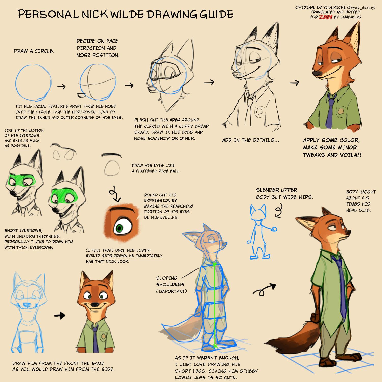 How To Draw Nick And Judy! (Original By Yudukichi