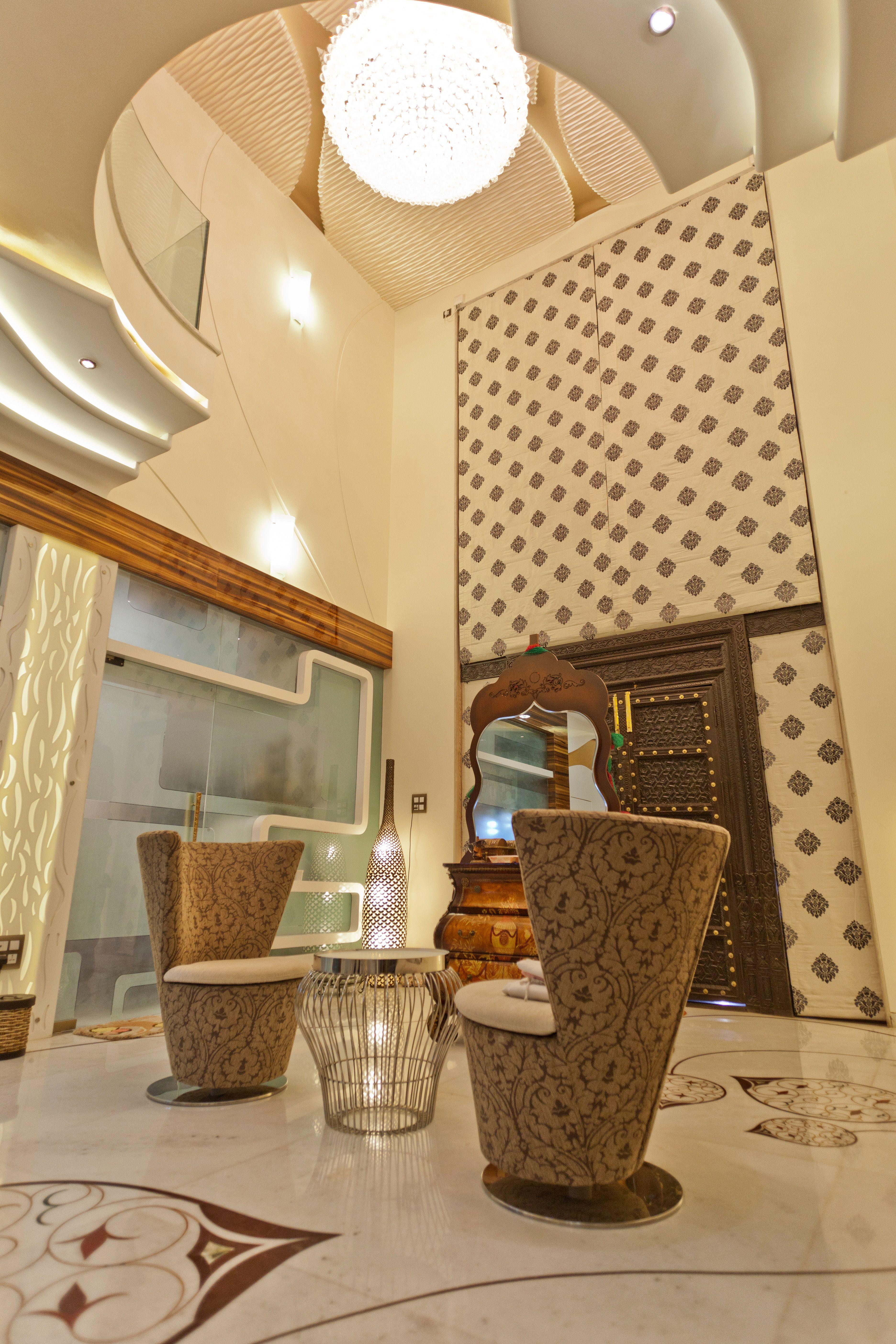Wall Decor For Living Room India Fan Ideas Double Height Entrance Lobby | ...