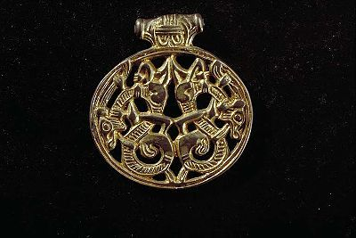 Viking age / Gilt silver pendant / Södermanland