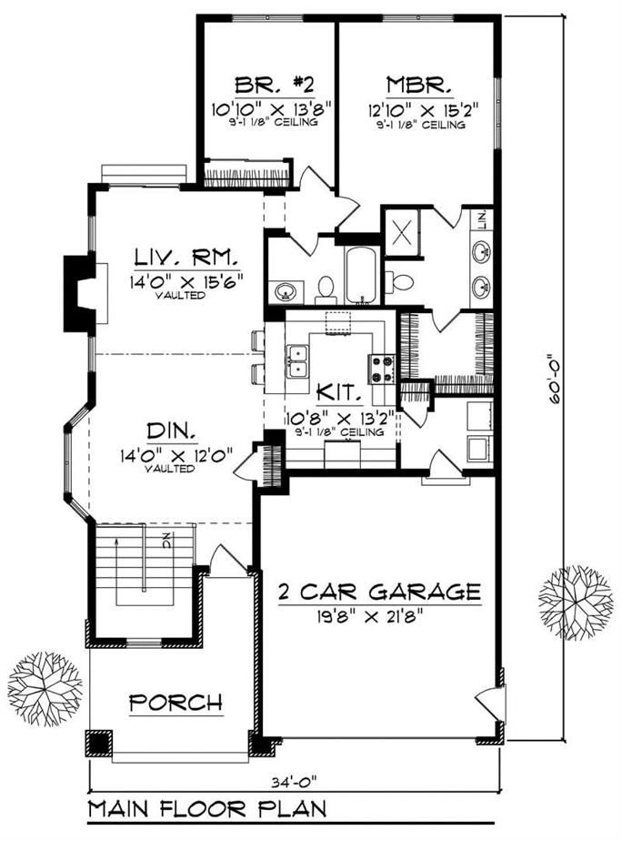 Ranch Small Home With 2 Bedrooms 1346 Sq Ft House Plan 101 1025 How To Plan House Plans House Floor Plans