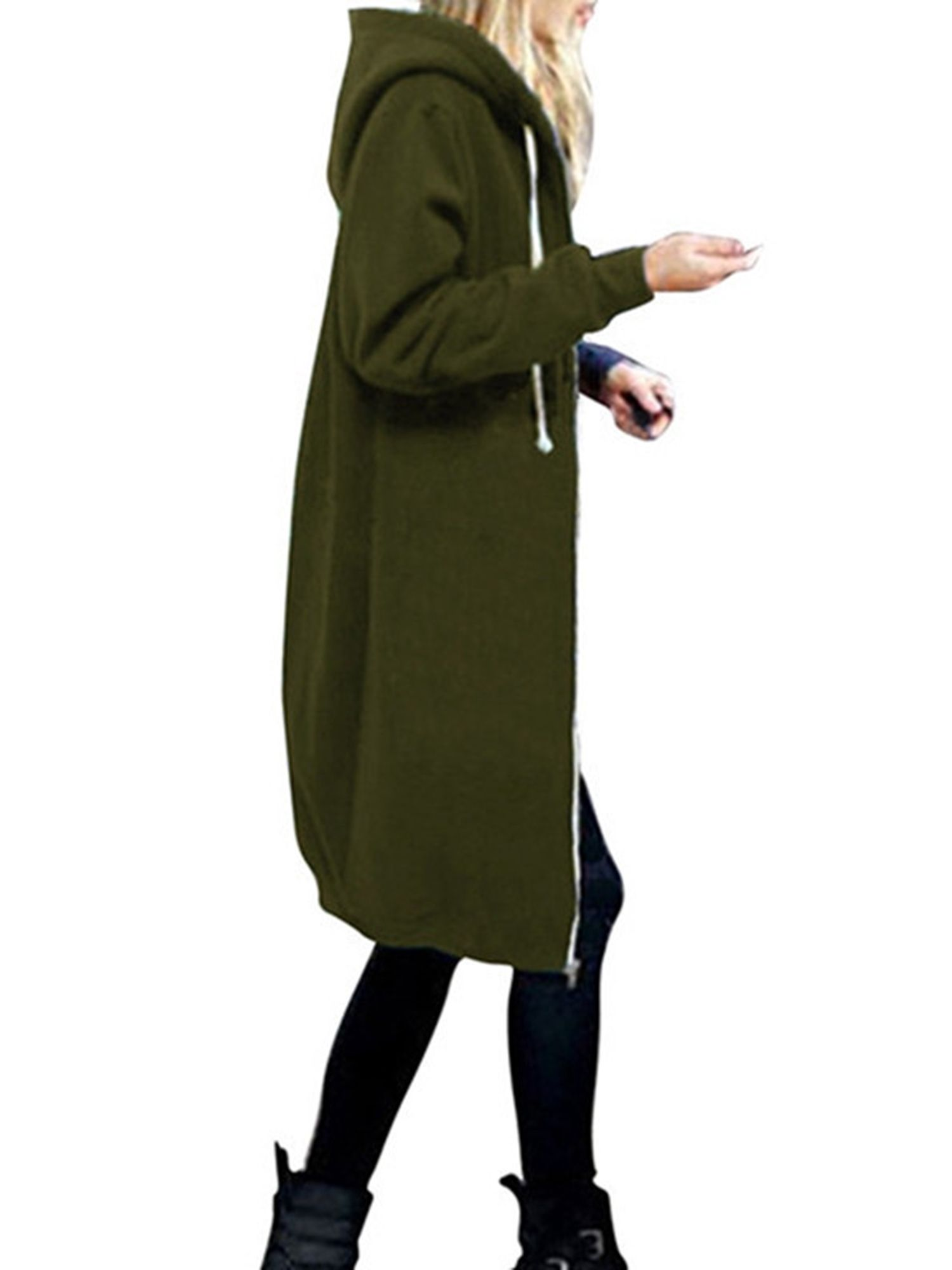 Plus Size S Xxxxxl Women Zip Up Long Hoodie Coat Warm Hooded Jacket Parka Overcoats Winter Zipper Outwear Oversized Tops Casual Solid Hoody Sweatshirts Hoodie Women Hoodies Sweatshirts Long Hoodie [ 2000 x 1500 Pixel ]