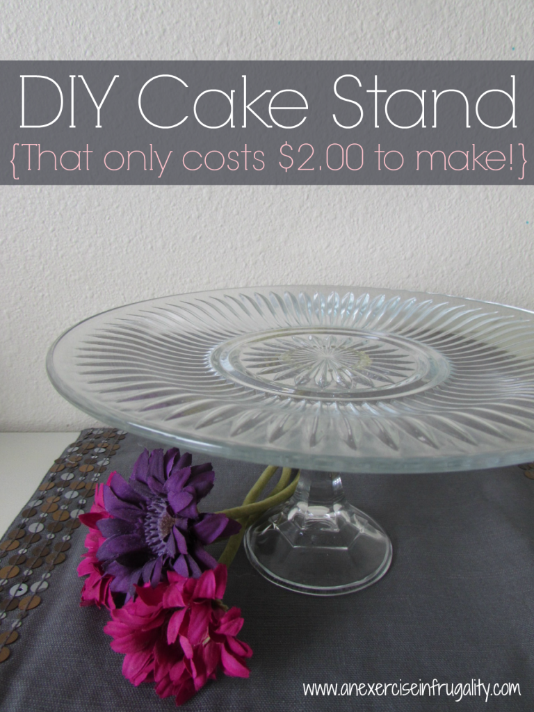 Diy Cake Stands Tutorial How To Make Cake Stands For 2 00 Each
