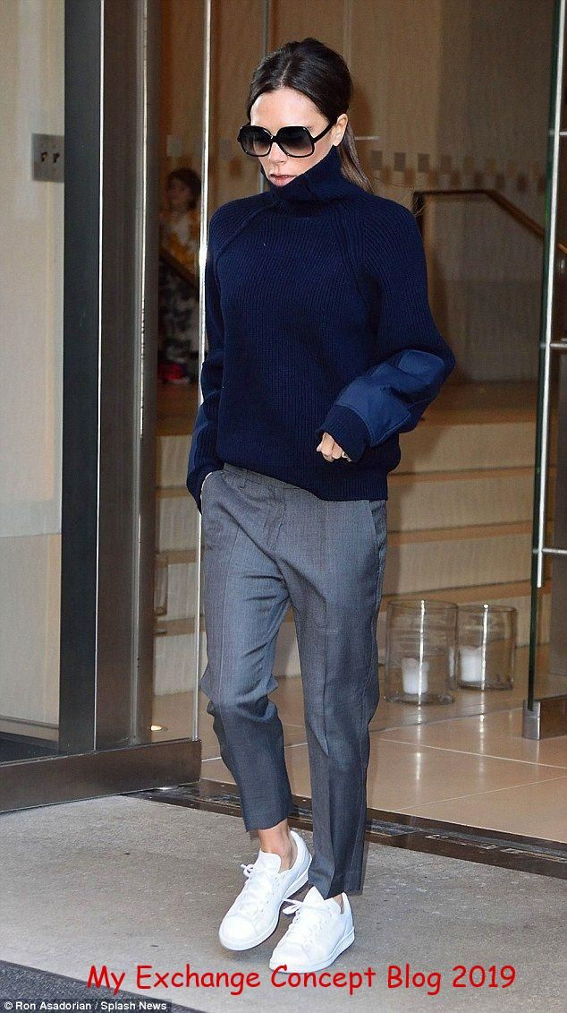 Victoria Beckham is dressed down in trainers ahead of NYFW show
