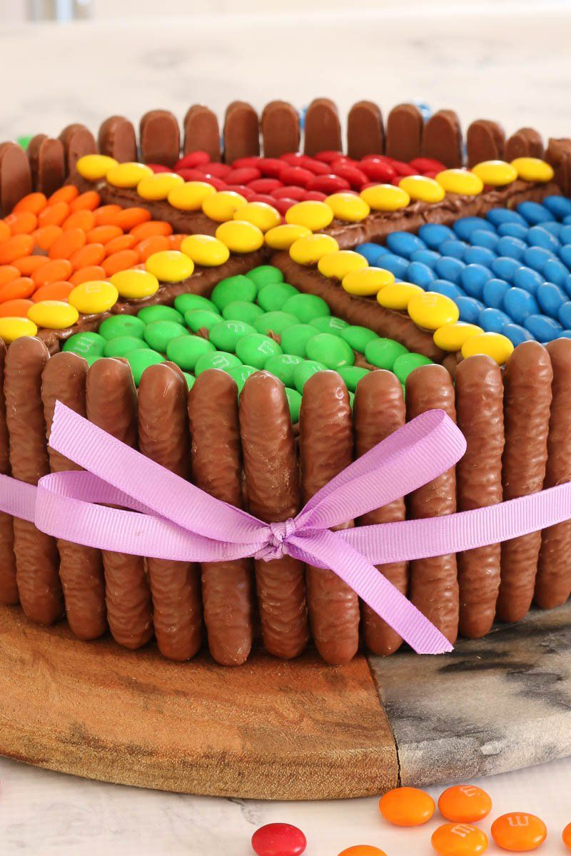 Super Easy M&Ms Chocolate Cake   Recipe   Chocolate cake ...