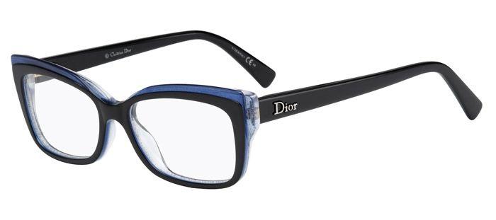 b4d1ecd004 Dior CD3283 E1X Black Blue Glitter Glasses
