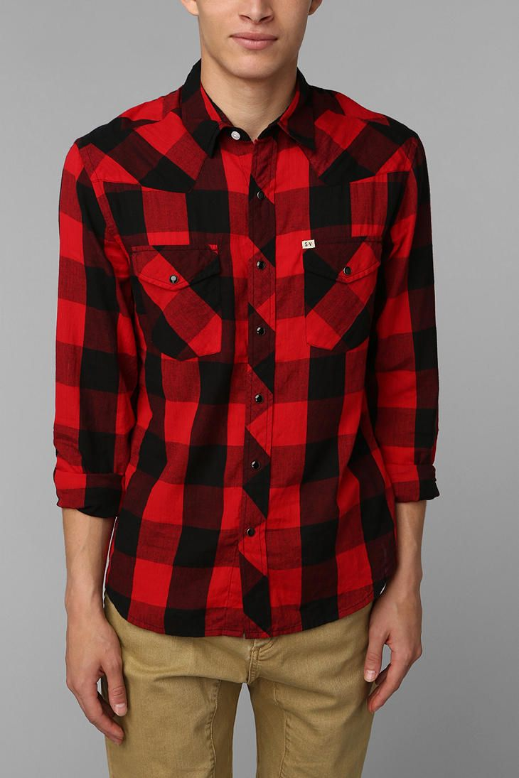 Salt Valley Buffalo Plaid Western Shirt Urban Outfitters