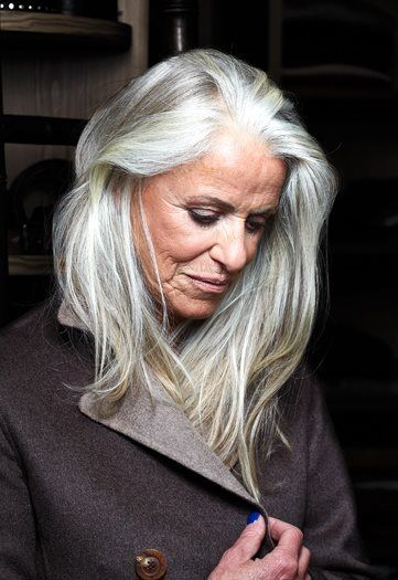 On Some People Their Natural Gray Hair Looks So Beautiful Long